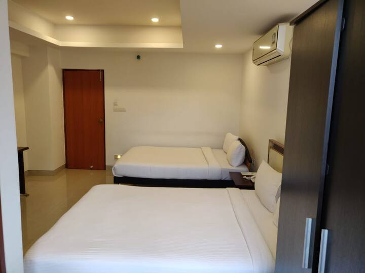 Spacious private room with washroom for 4 adults