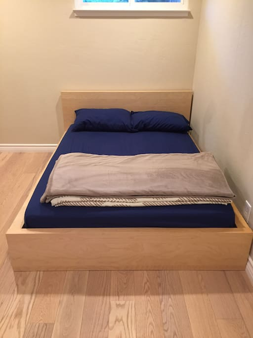 Sleeping bed comes with sheet and pillow