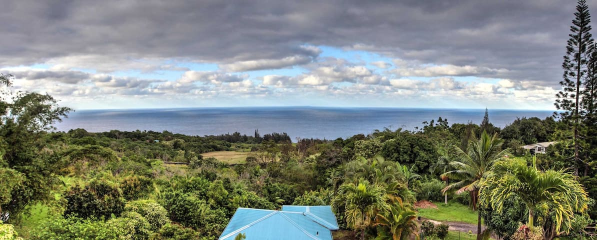 Luana Ola LUXURY Home Ocean View near Waipio Valle - Honokaa