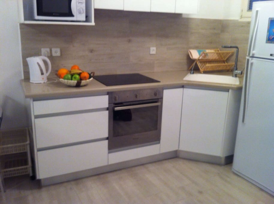 Our new comfortable kitchen, just renovated.