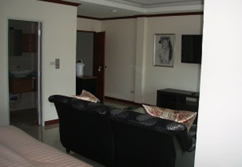 This is the large Balcony room 1,200bht