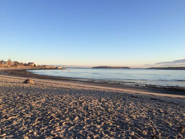 Willard Beach, just a quick walk away.