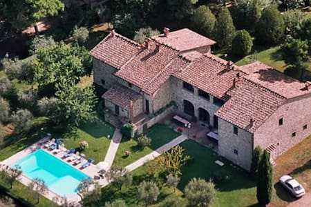 Marvelous villa close to Siena for 16+ people - Provincia di Arezzo - Rumah
