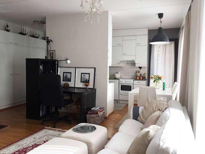 ⭐️Apartment near airport with parking and sauna ⭐️