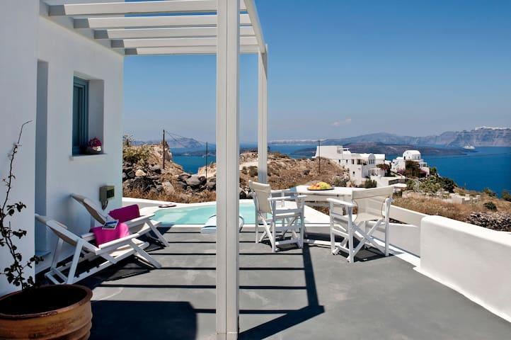 Apartment with pool & caldera view4 - Santorini - Rumah