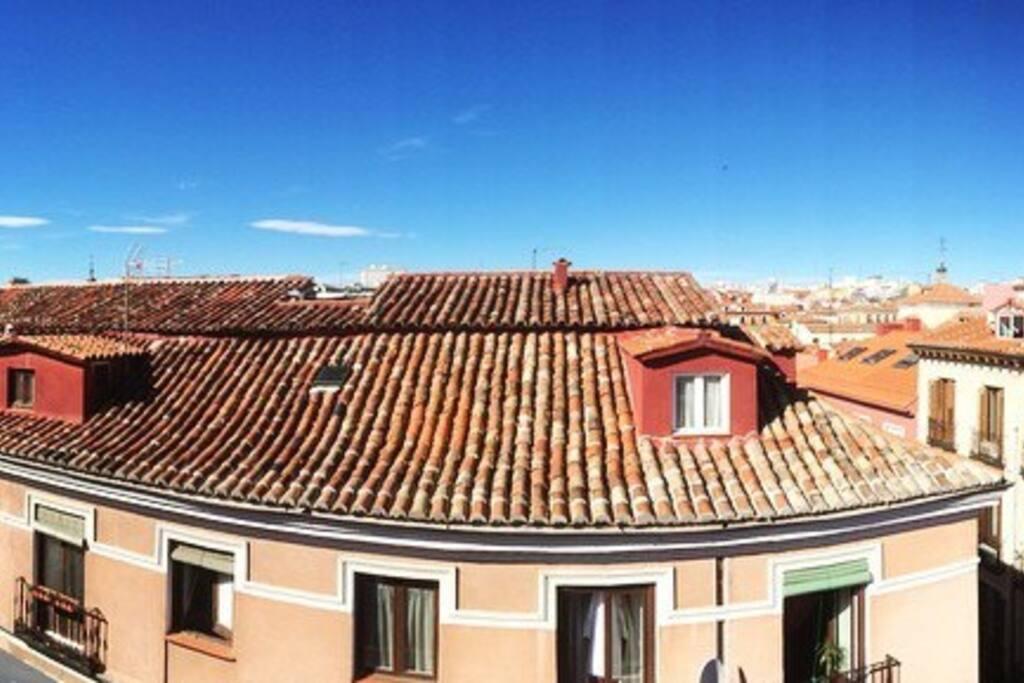 Preciosas vistas de todo Madrid desde la habitación!