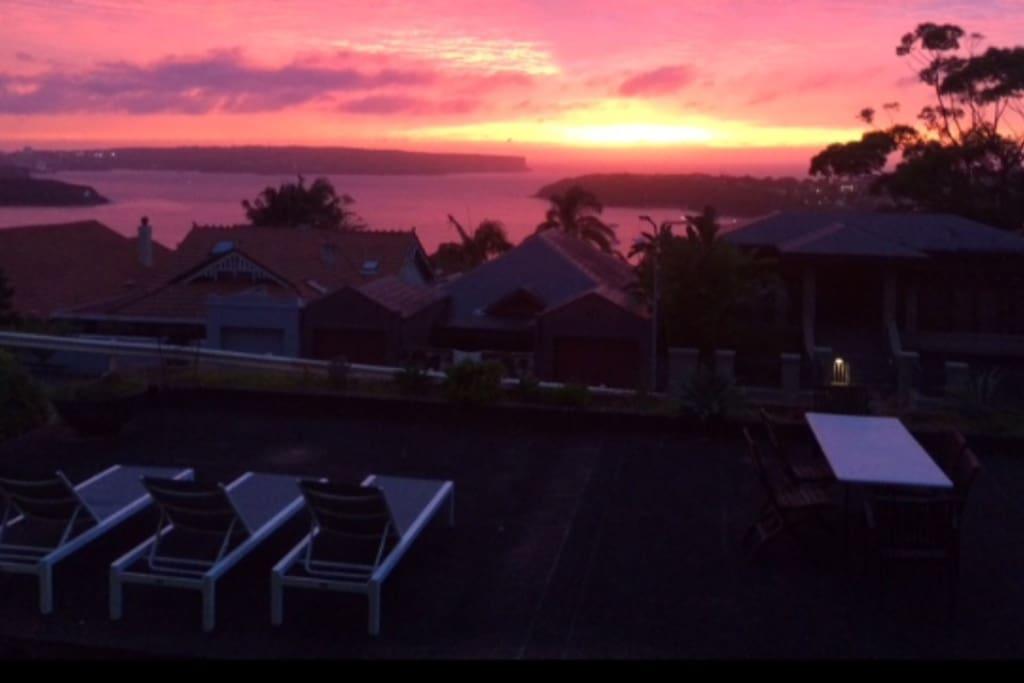 View at sundown..