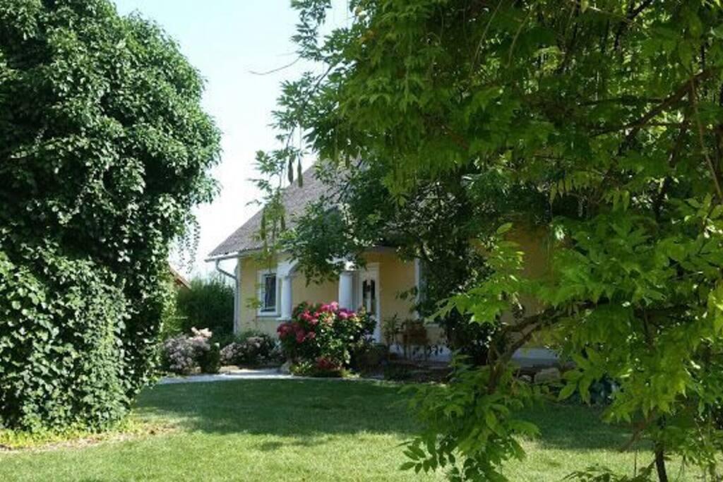 Schöner Garten zum chillen und grillen mitten in der ländlichen Natur