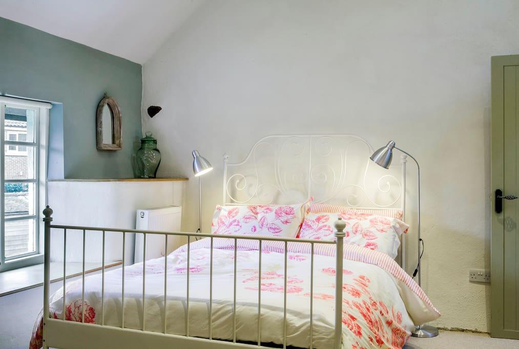 Beautiful bedroom full of character...