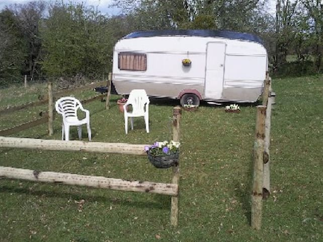 Old style caravan: quiet location - Herefordshire
