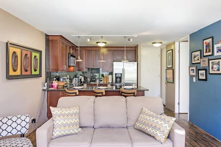 Walk to Beach 1 BD, 1BA, AC, Parking-Quiet-Waikiki