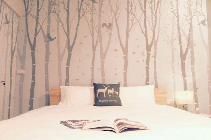 麋鹿森林雙人房(302有陽台) - 台東市 - Huis