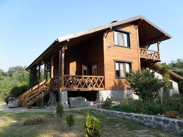 Новый деревянный дом на берегу реки - Полтава - บ้าน