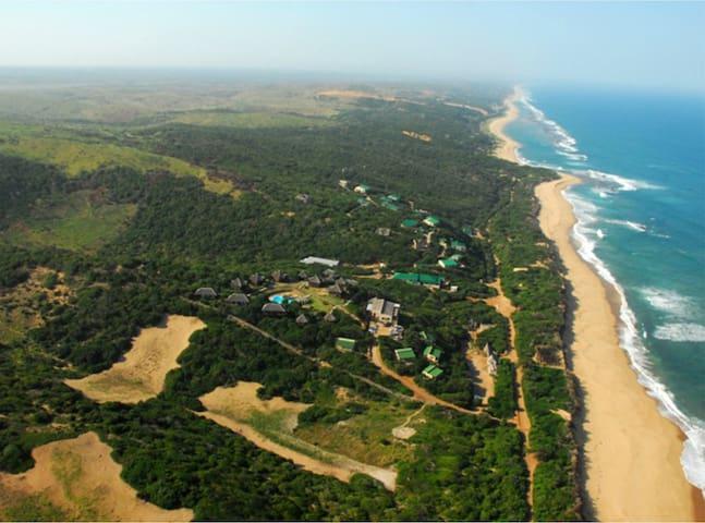 Xai Xai Eco Estate, overlooking Indian Ocean