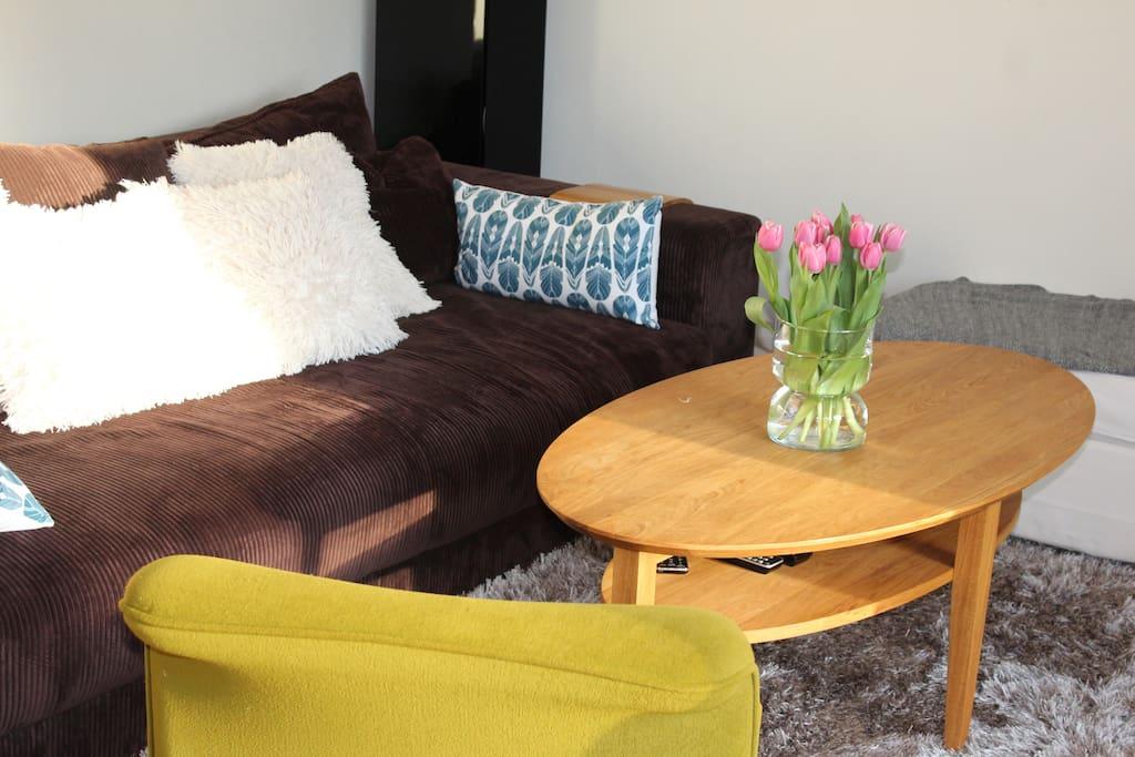 Livingroom with big sofa