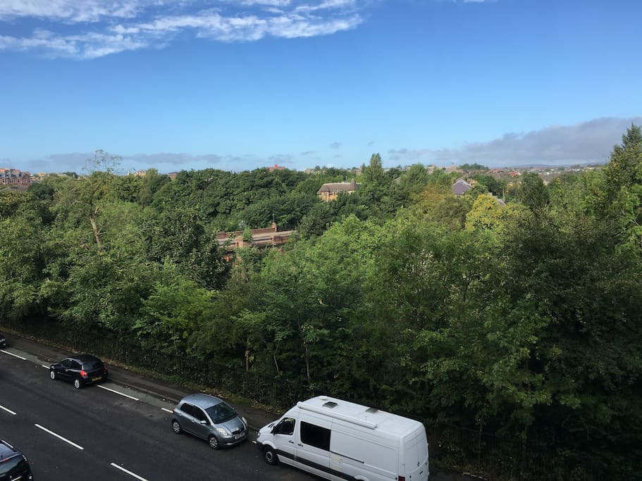 View across the Kelvin from the living room