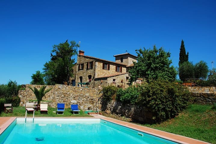 Antique countryhouse in Chianti - Monsanto, Barberino Val d'Elsa - Penzion (B&B)