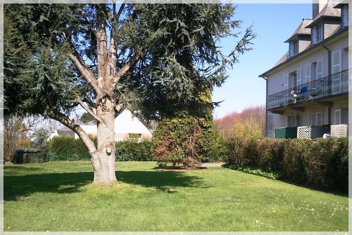 Jardin côté Ouest terrasse
