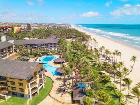 Resort Suítes Beach Park Apt VISTA MAR PÉ NA AREIA