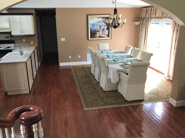 Open Dining, Kitchen, Living Room