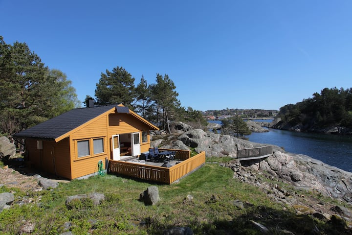 Cozy family cabin in the Kristiansand archipelago