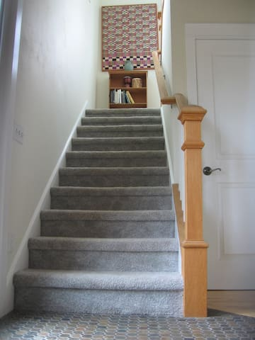...go up the stairs..