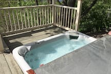 Hot tub outside