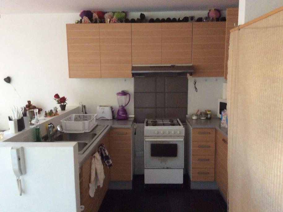 Vista de la cocina de la casa. Perfectamente equipada