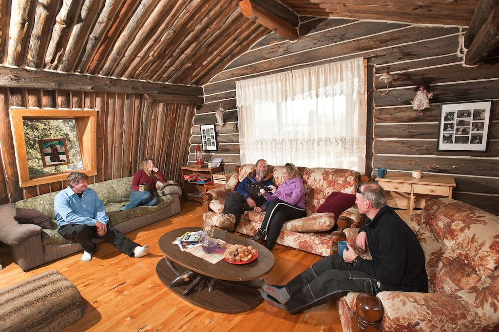 Relax in the sitting room while getting to know other guests.