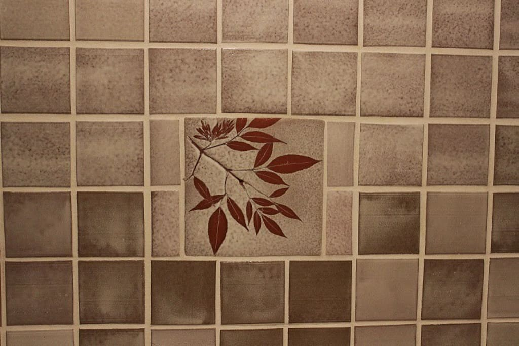 Handmade tiles from Dunn County Pottery