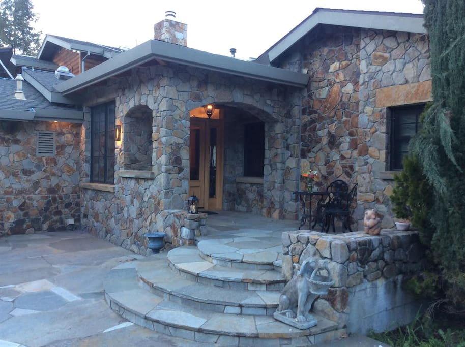 Front of Glen Ellen Stone Retreat