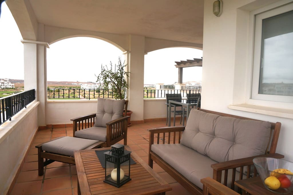 Fully furnished terrace to enjoy