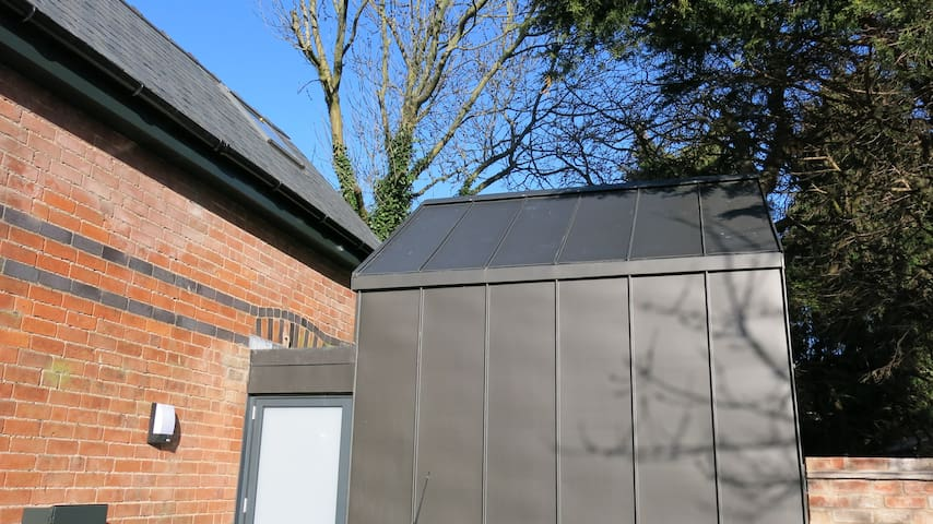 Black zinc clad extension - planning department approved it!