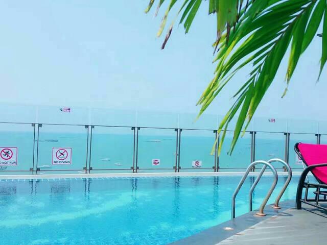 一卧楼顶泳池3 rooftop pool flat the Base Central Pattaya