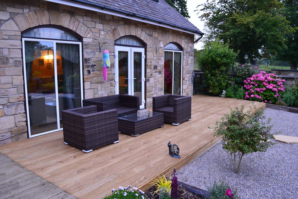 Relaxing area on decking