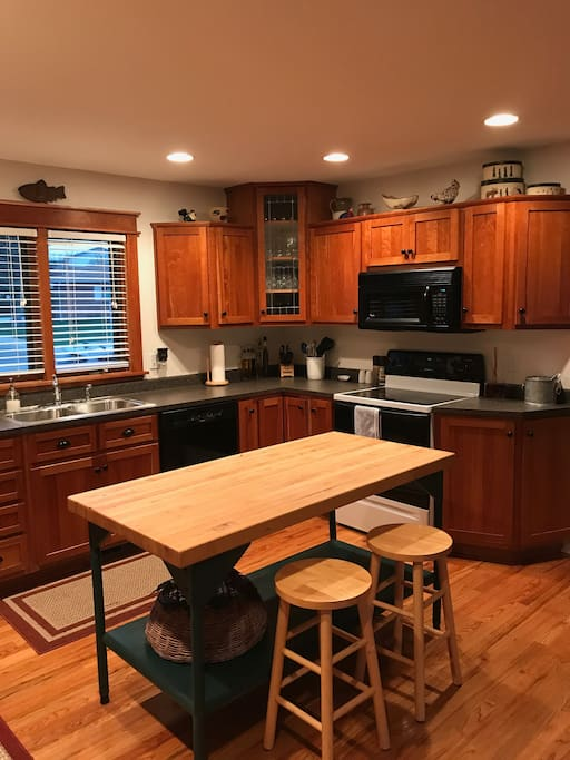 Spacious and open kitchen with all the basics.