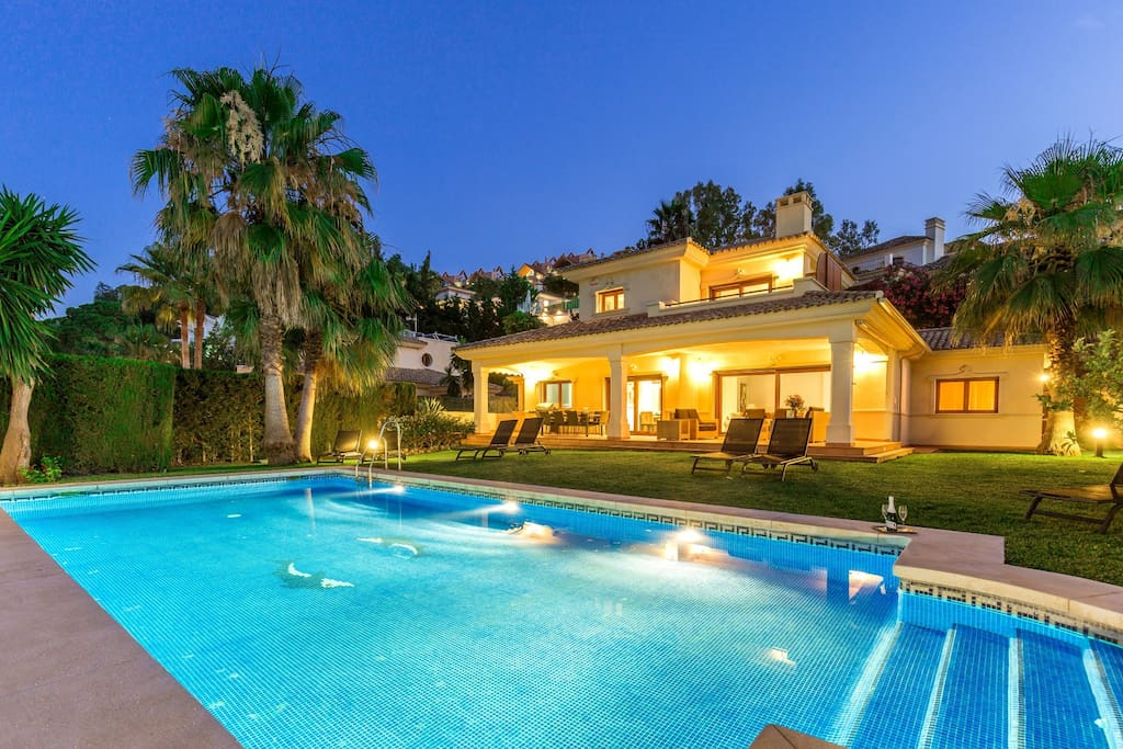 Evening view of the villa