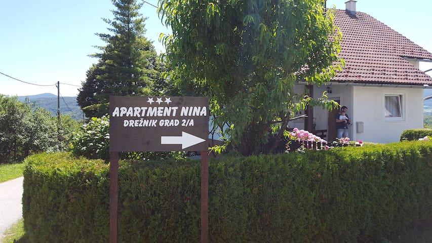 "APARTMENT ""NINA"" - Drežnik Grad - Daire"