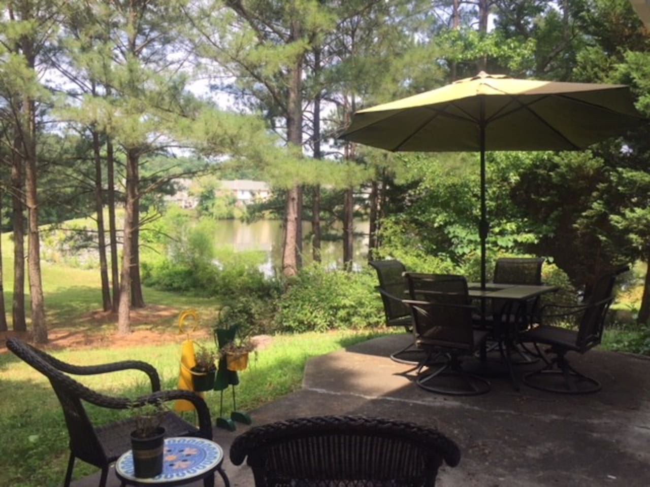 Our back yard with the great view to the lake