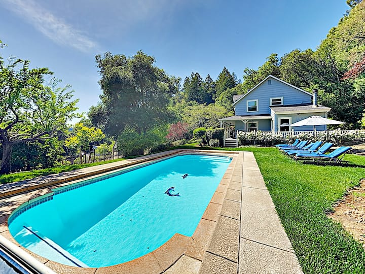 Quiet Wine Country Home w/ Private Pool & Hot Tub
