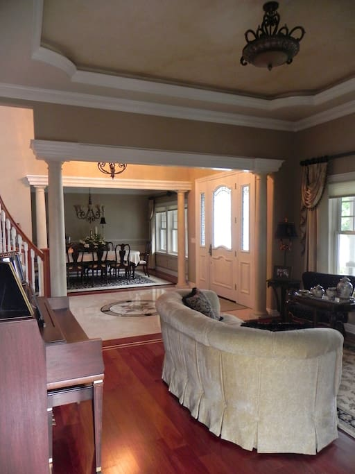 Living Room and formal dining room
