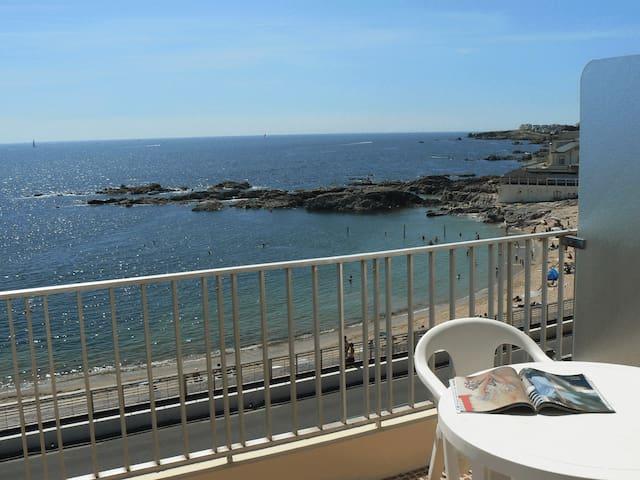 Lumineux 2P vue mer panoramique - Le Croisic - Apartamento