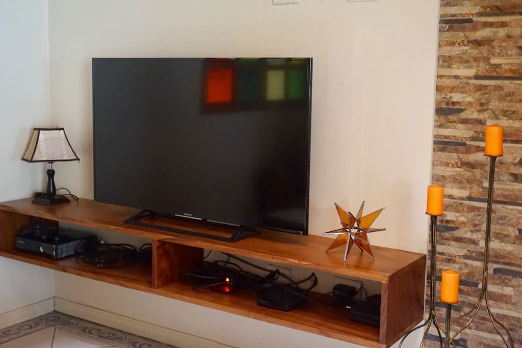 A 42 inches smart TV