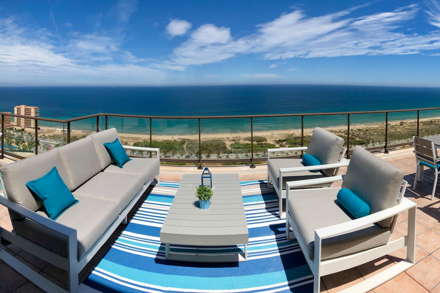 Stunning views from the chaise-lounge area
