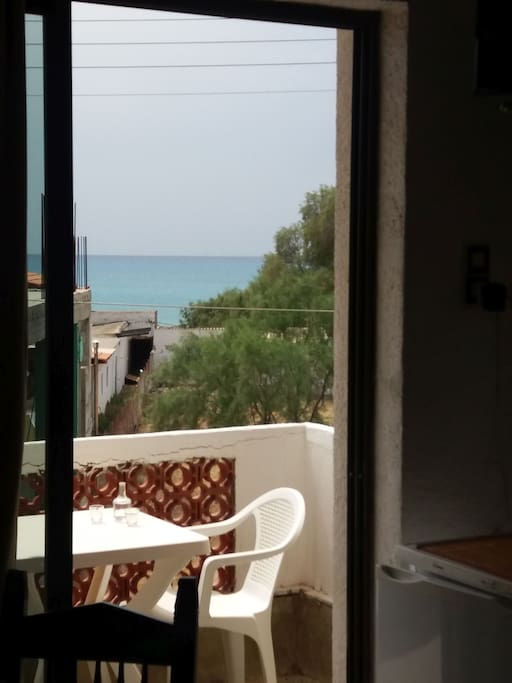 View to the balcony - sea view