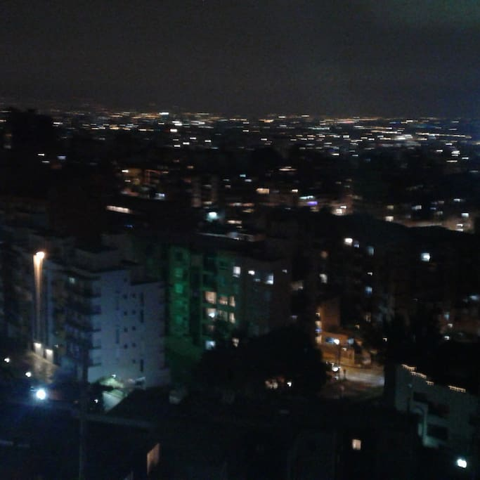 view by night from balcony