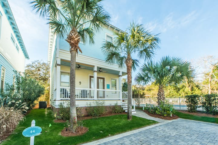 Bk4Christmas☀️PoolViews☀️30A-500yds to Beach☀️2X Sanitized☀️3BR Whispering Palms