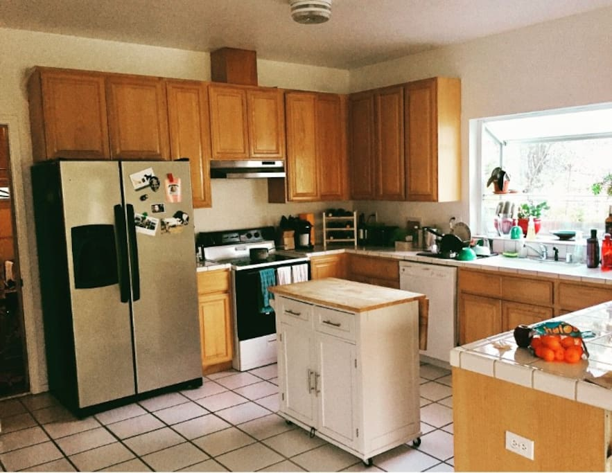 Open kitchen with ample counter space