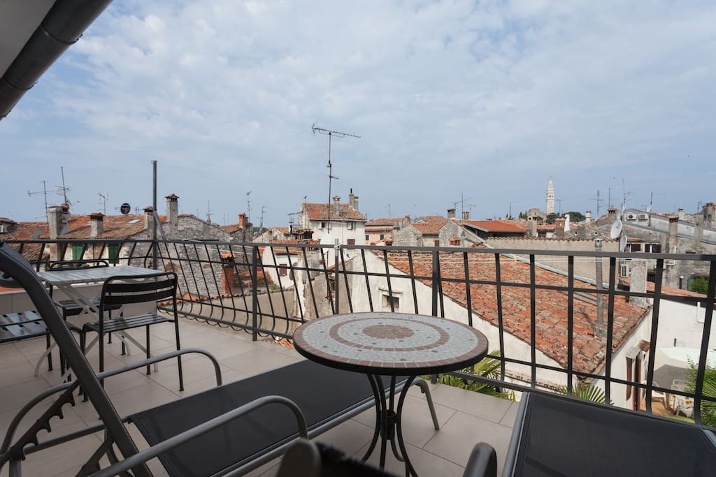 Terrace with a view to the Saint Euphemia Cathedral