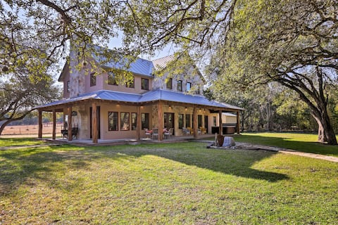 Riverfront Home w/Shaded Porch+HotTub by DT Blanco